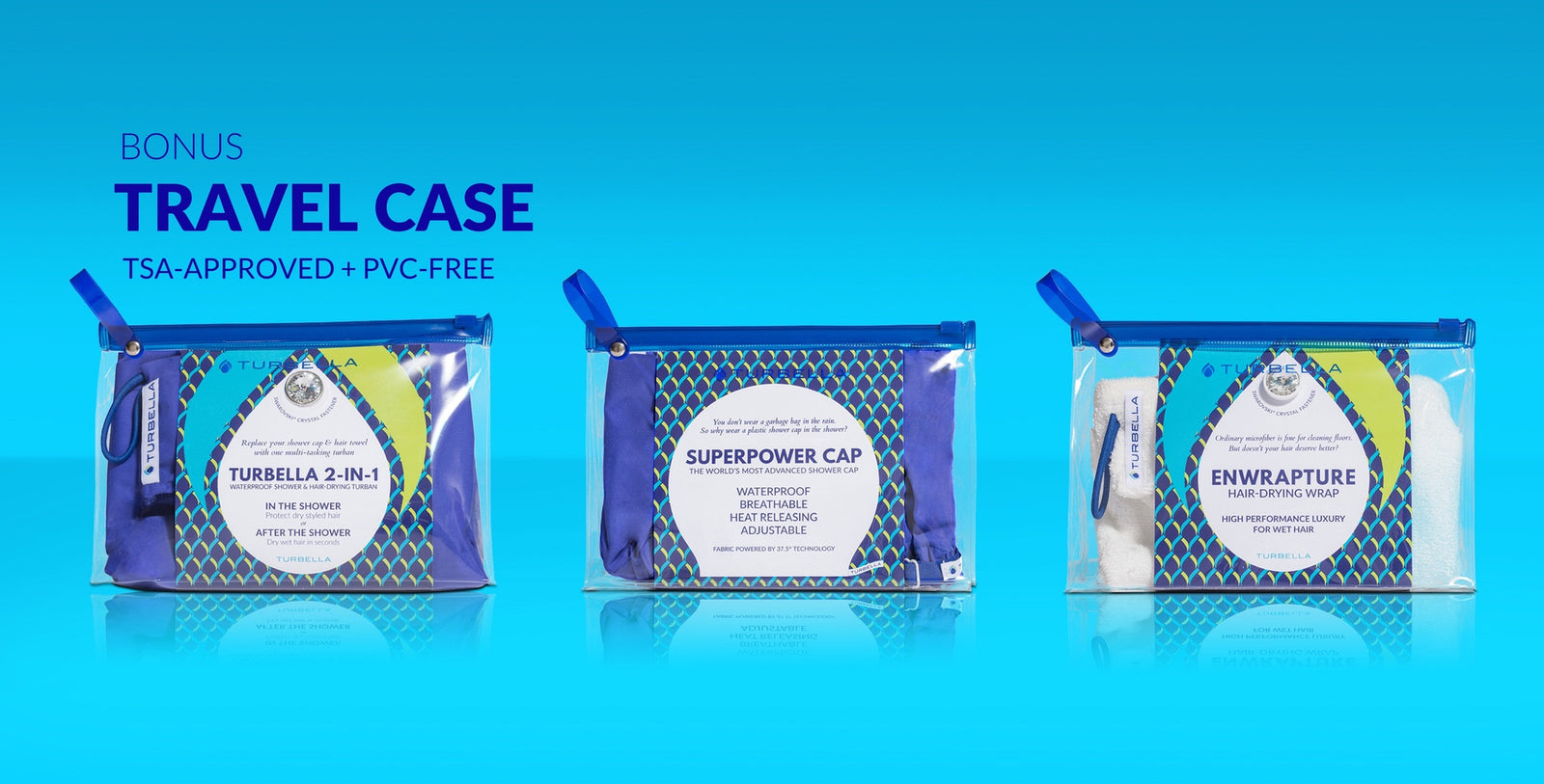 TSA-approved clear zip bag free case for travel from Turbella