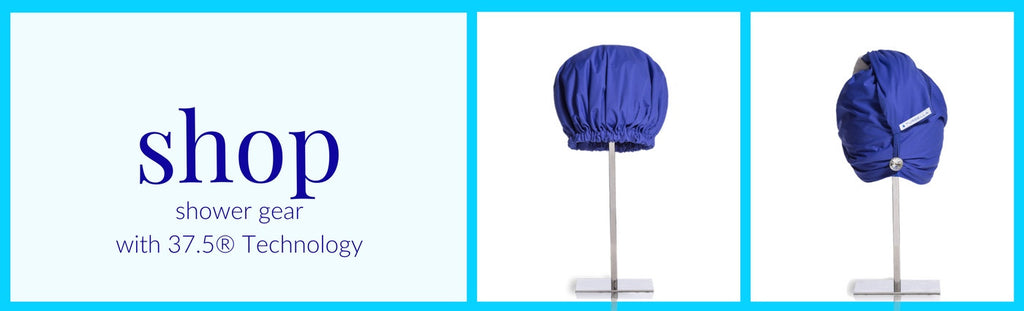shop best shower cap and shower cap turban style with waterproof breathable material by Turbella shower gear