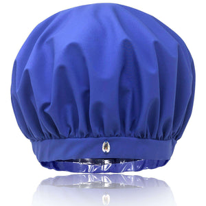 best oversized large shower cap for long hair curls women XL Superpower waterproof breathable fabric stops frizzing