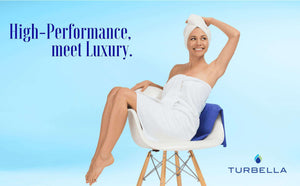 Turbella luxury microfiber hair-drying towel wrap turban with Swarovski button