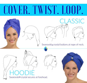 how to wrap a turban to keep hair dry and frizz free in humidity Turbella instructions