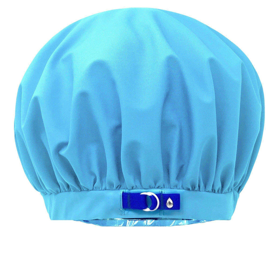 best reusable large shower cap for long hair curls women XL Superpower waterproof breathable fabric stops frizzing