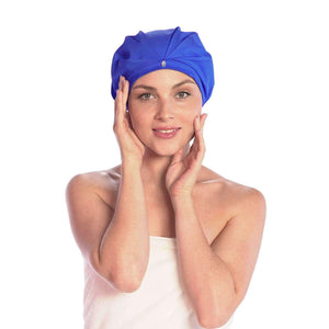 best quality shower cap turban for long or short hair keeps curly straight blowout hairstyles dry TURBELLA