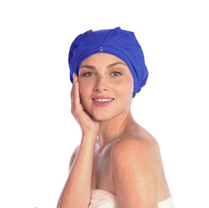 cute shower cap turban waterproof breathable satin fabric adjustable headband, TURBELLA made in USA