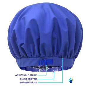 bath caps to keep long hair dry, adjust large size to keep hairline from getting wet TURBELLA