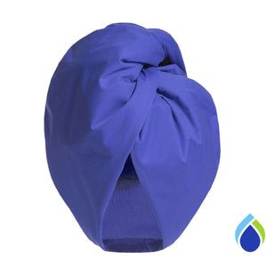 Turbella reviews waterproof breathable turban shower cap and hair-drying towel wrap W/B to stop frizzy