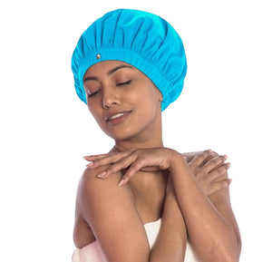 top quality superpower shower cap XL large for thick fine curls straight blow-dry hairstyles stay dry