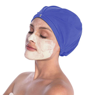 top showercap turban for travel hotel spa gym to protect blowdry hairstyles from humidity