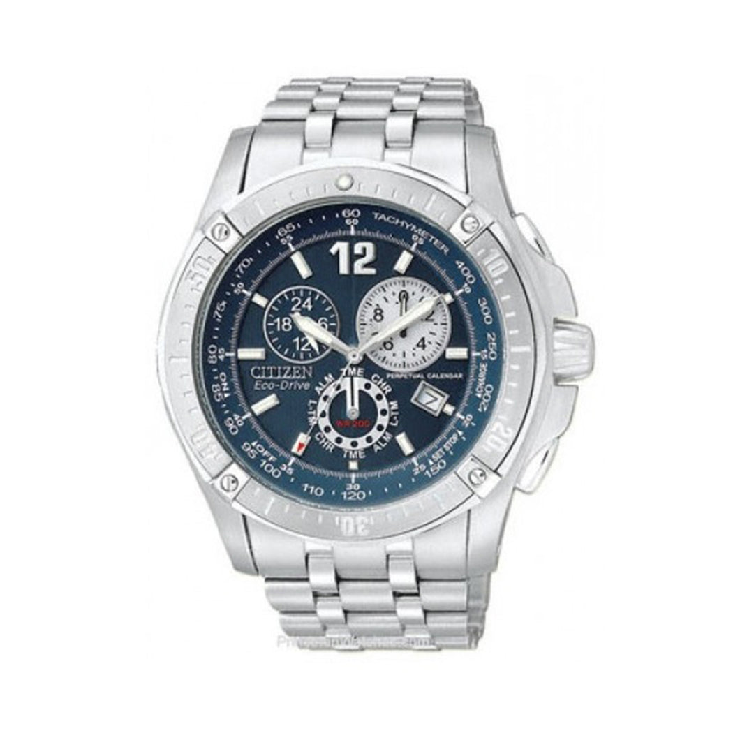 Citizen Men's BL5370-51L Eco-Drive Perpetual Calendar Chronograph Sport Watch