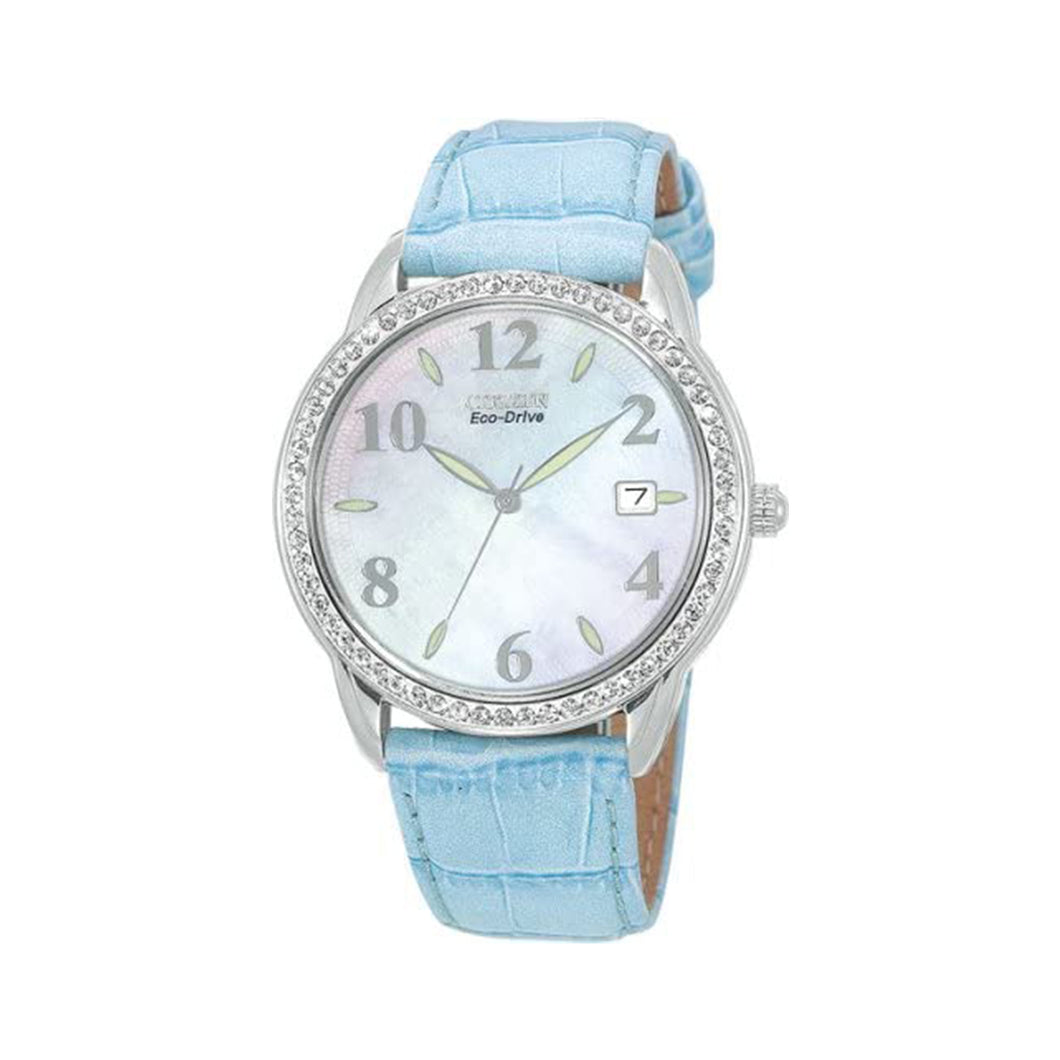 Citizen Women's EO1000-01D Eco-Drive Mother-of-Pearl Swarovski Watch