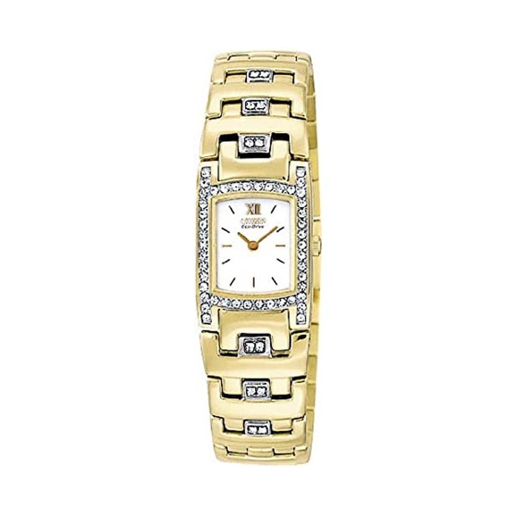 Citizen Women's EW8142-59A Eco-Drive Silhouette Swarovski Crystal Gold-Tone Watch