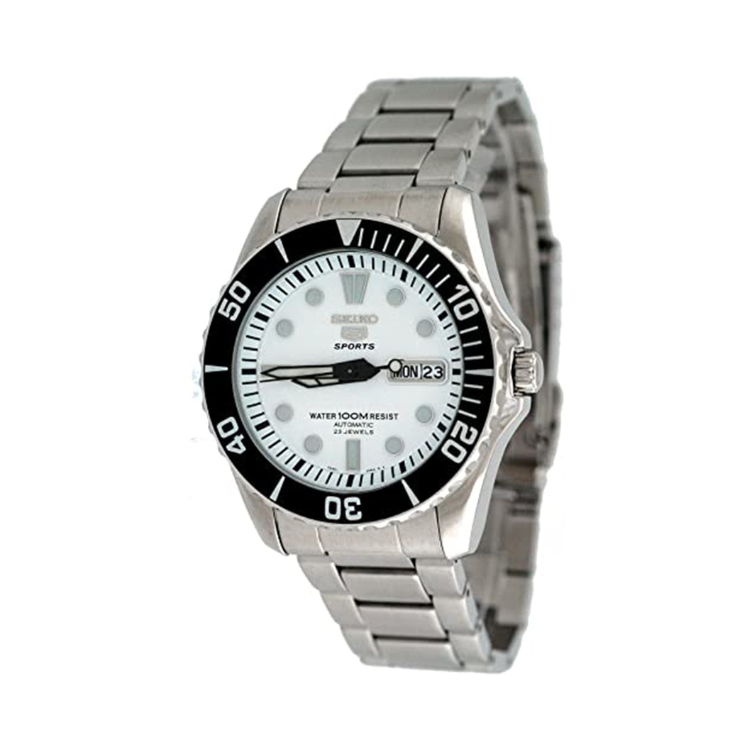 Seiko Men's SNZF11K1 Sports White Dial Self Winding Automatic Watch
