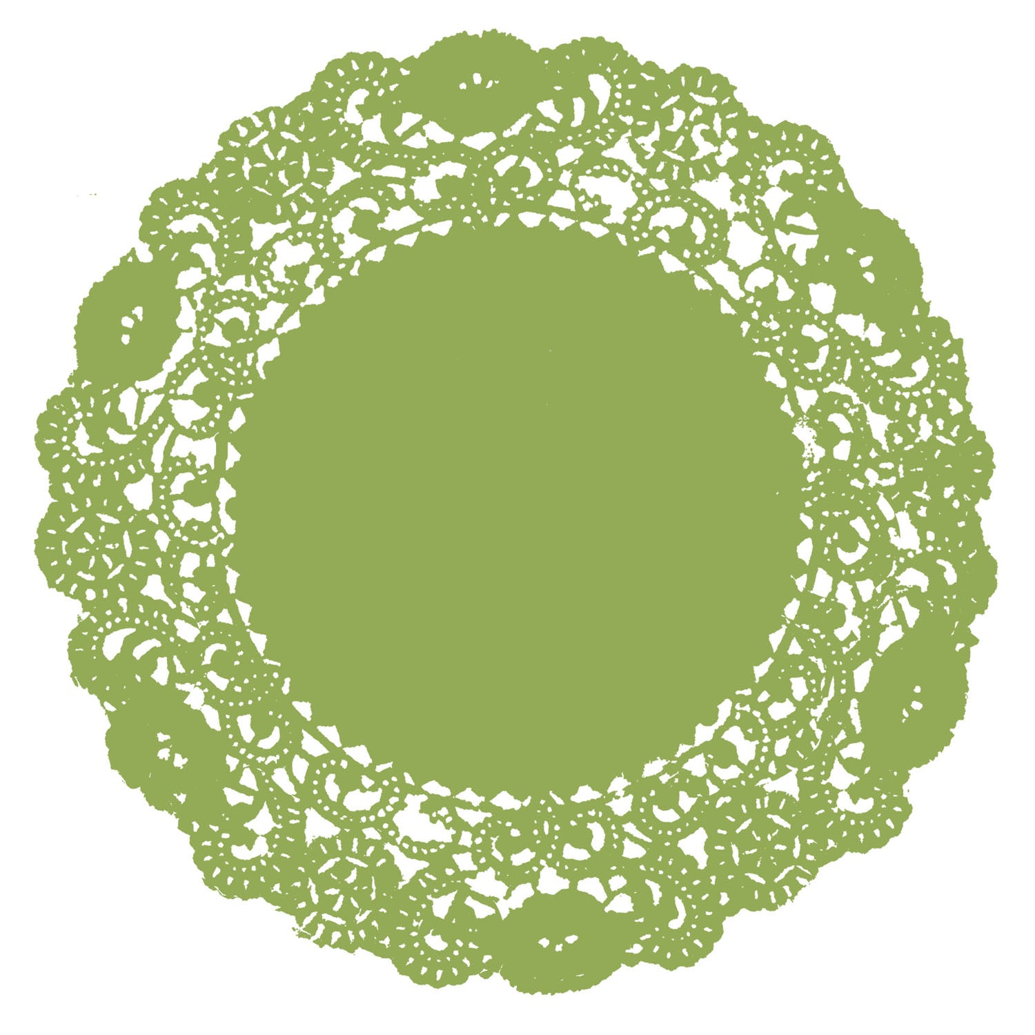 Fern Green Doily