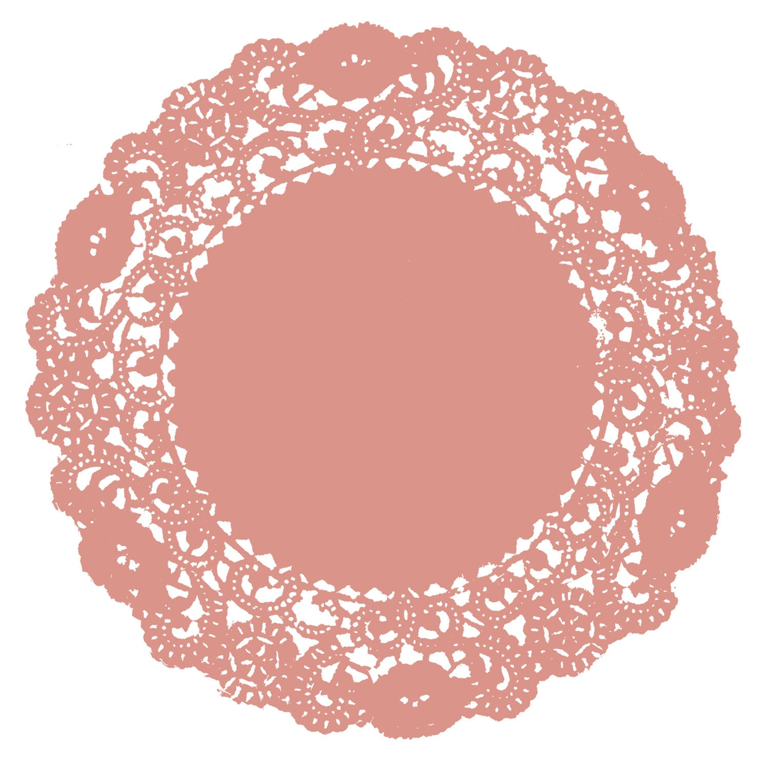 Dusty Coral Doily