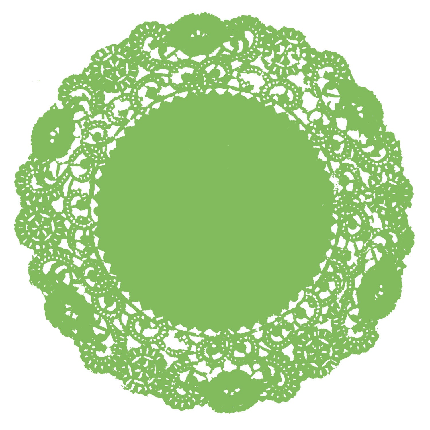Lime Green Doily