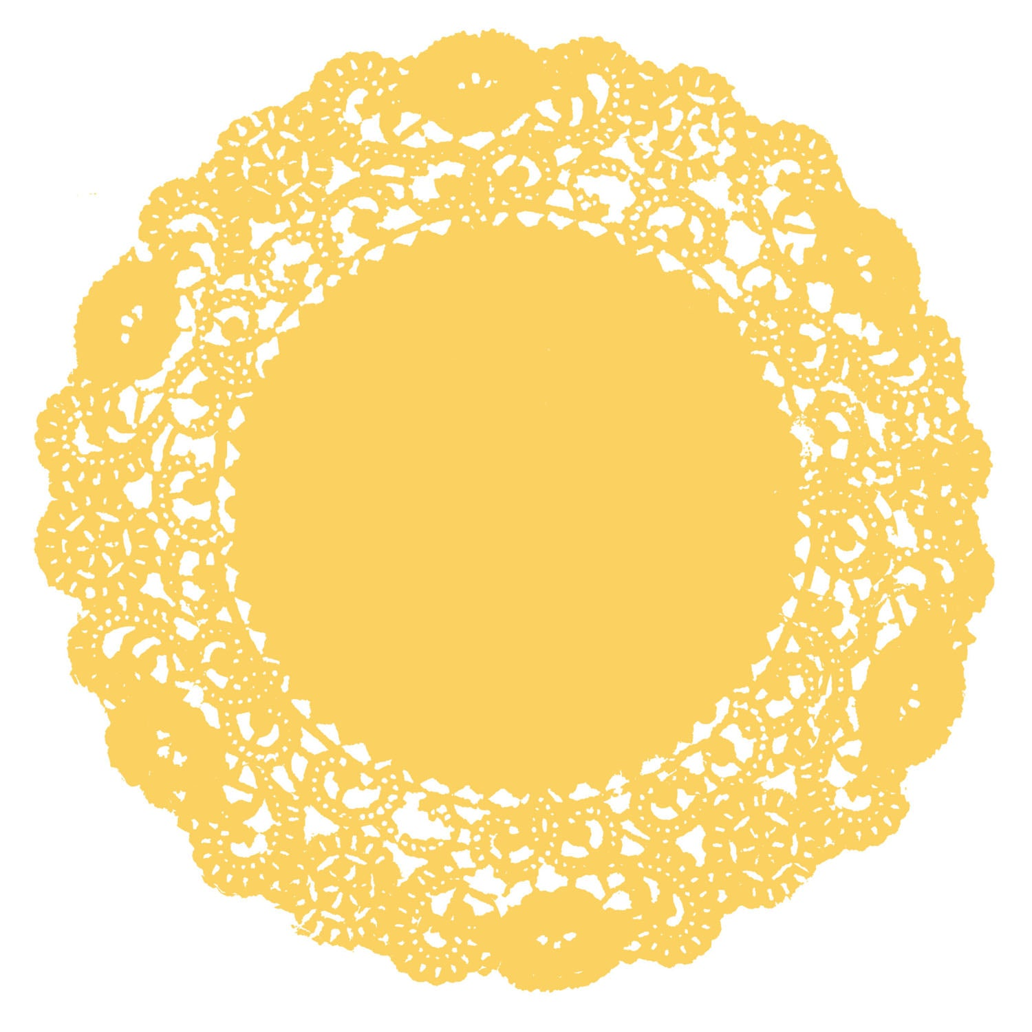 Sunset Yellow Doily