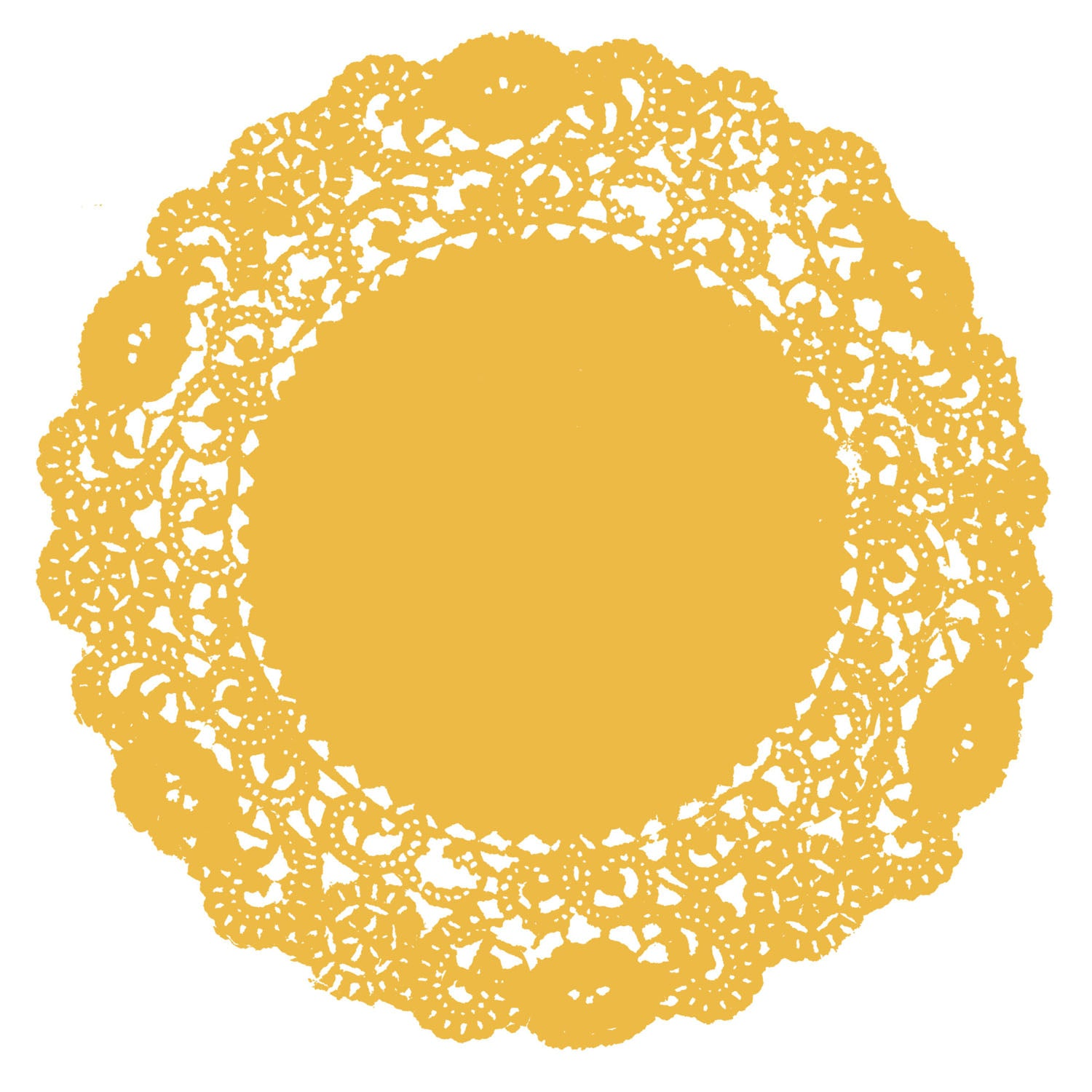 Golden Yellow Doily