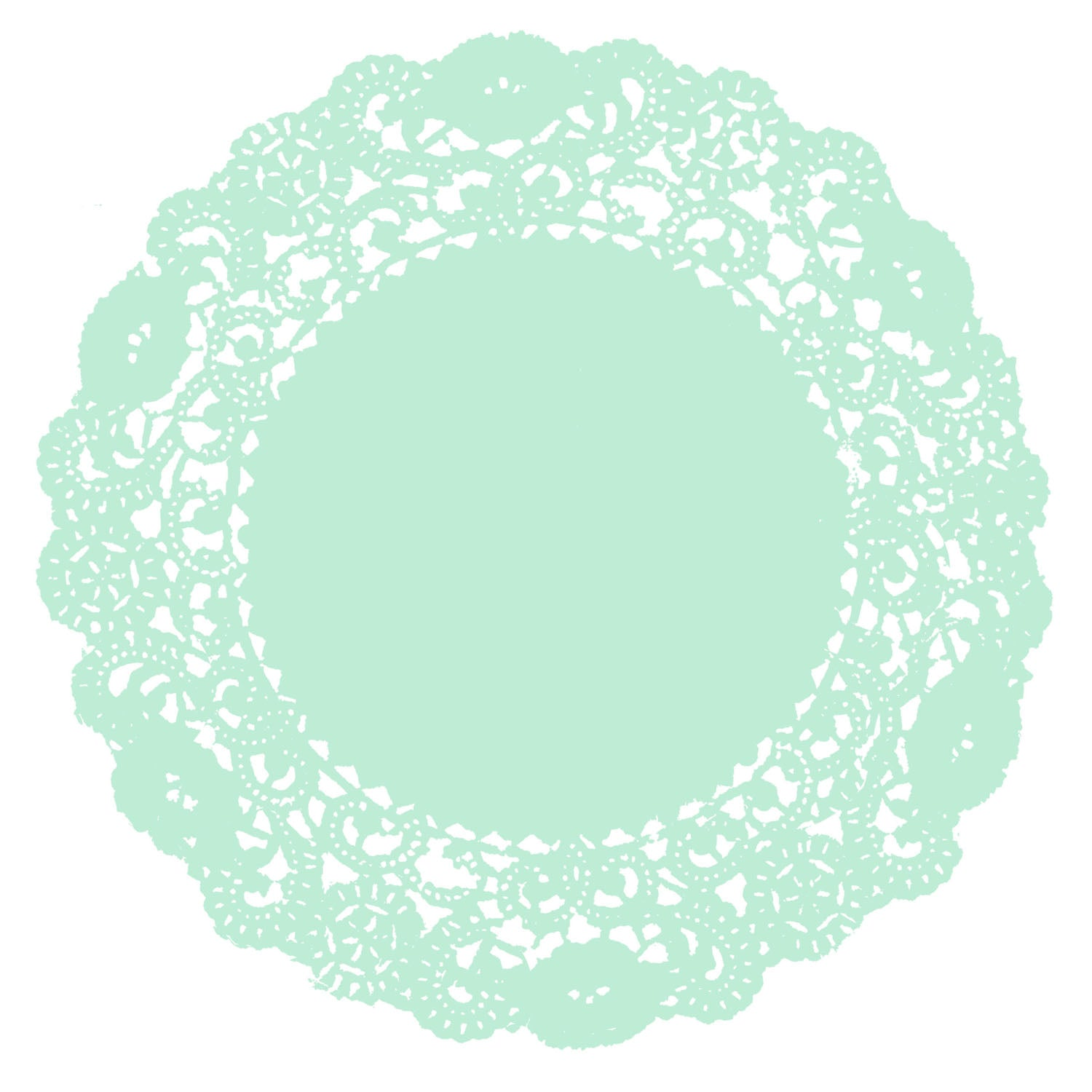 Pale Mint Doily