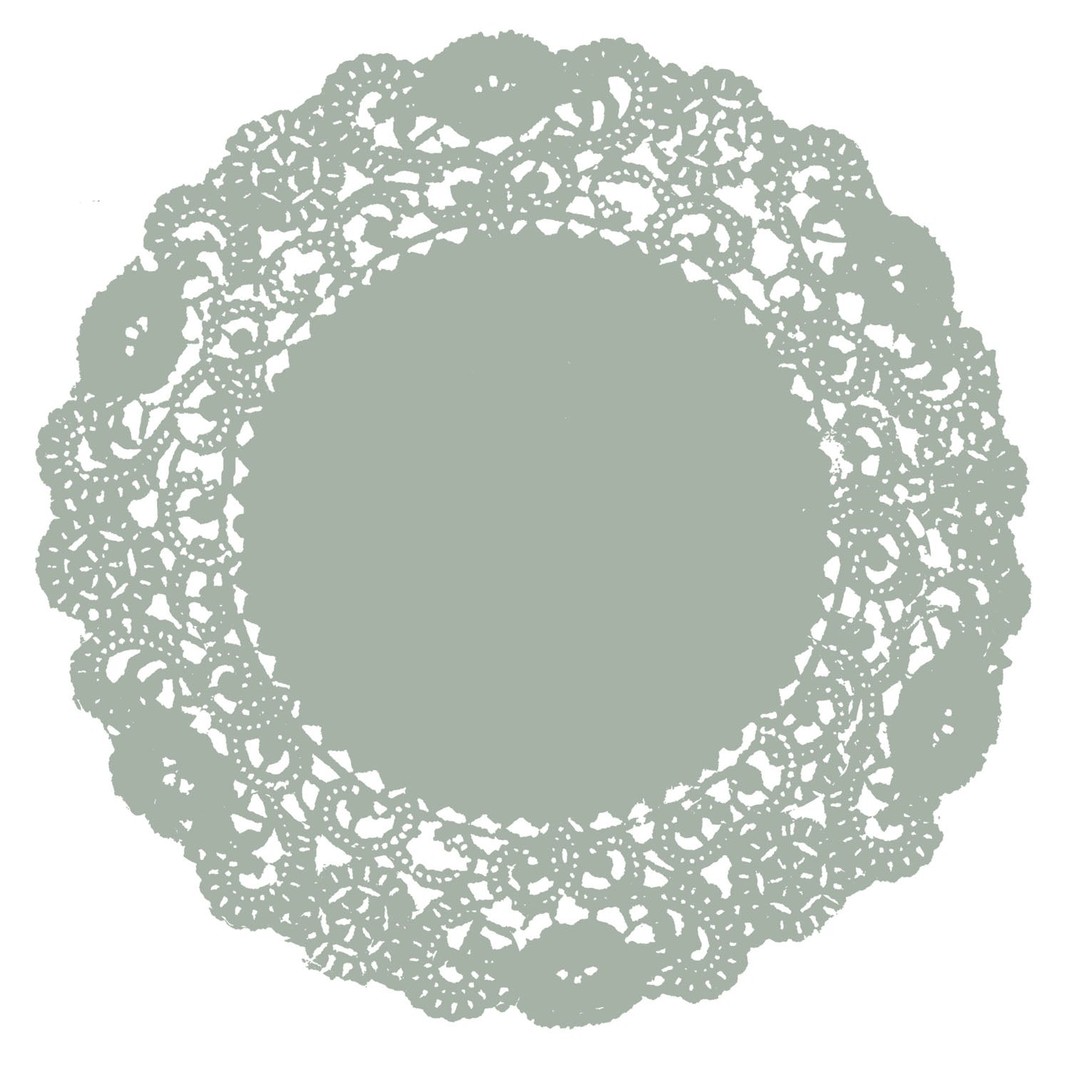 Pewter Gray Doily
