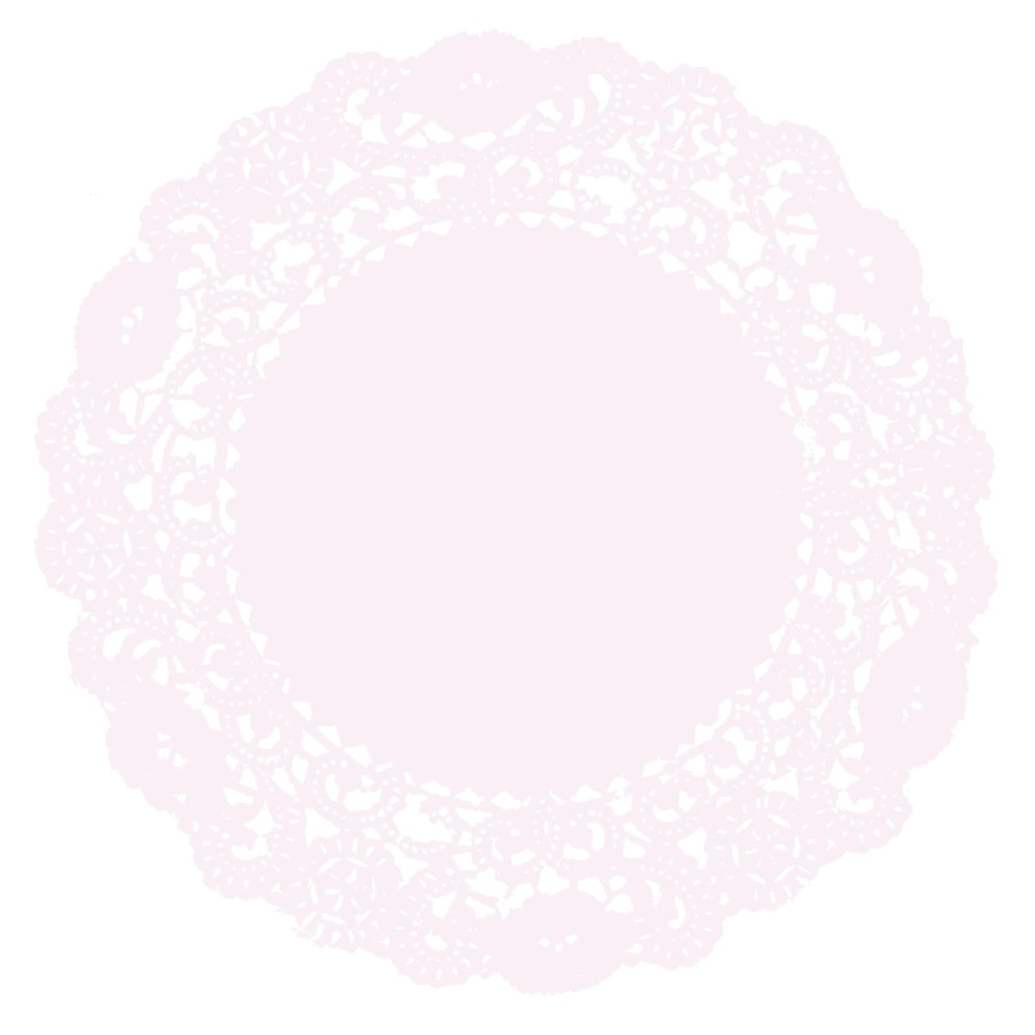 Pale Pink Doily