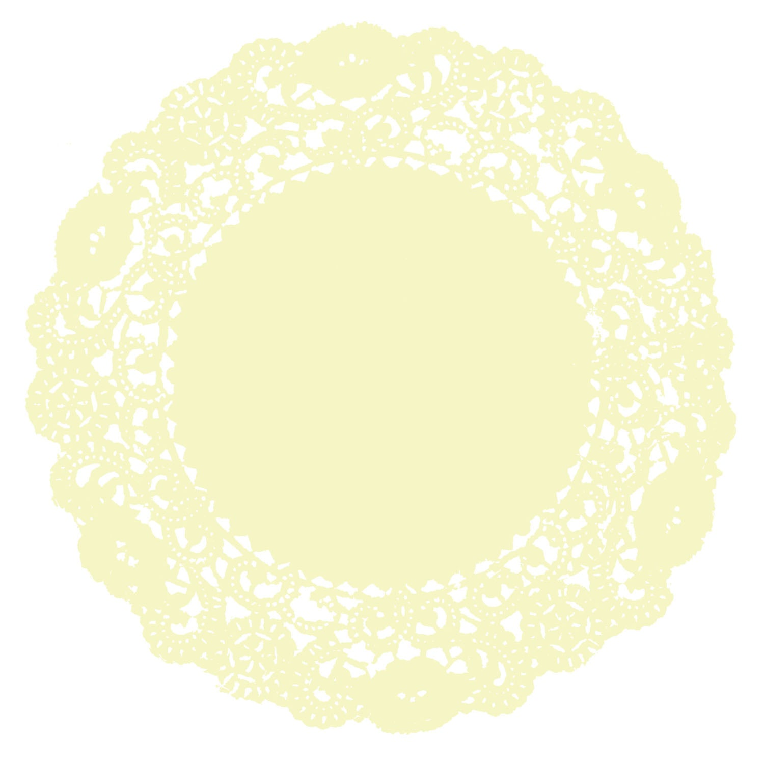 Pale Yellow Doily