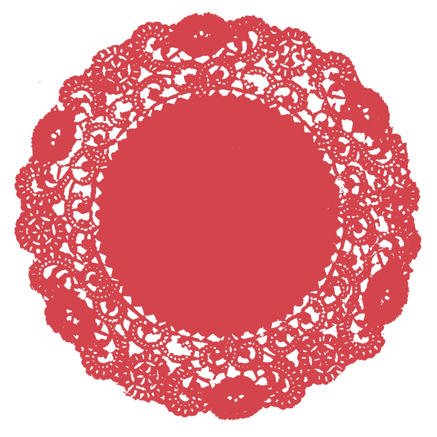 Rose Red Doily