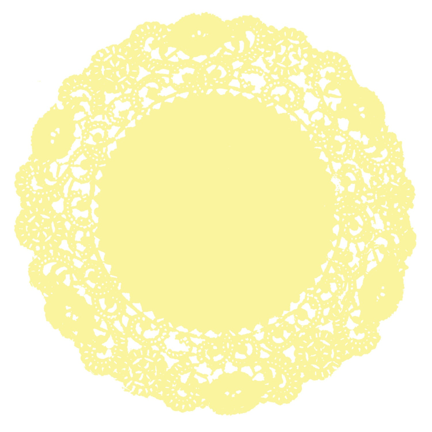 Soft Yellow Doily