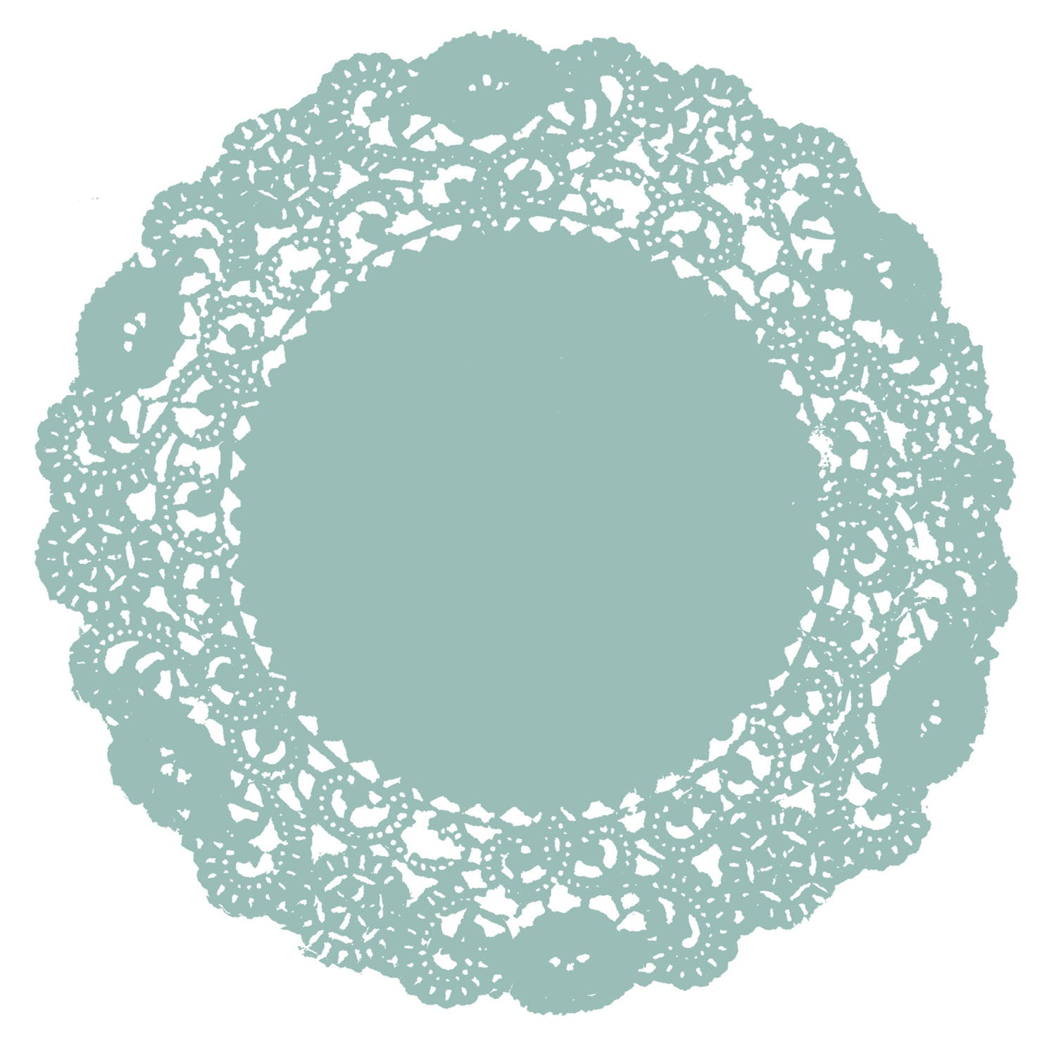 Tame Teal Doily