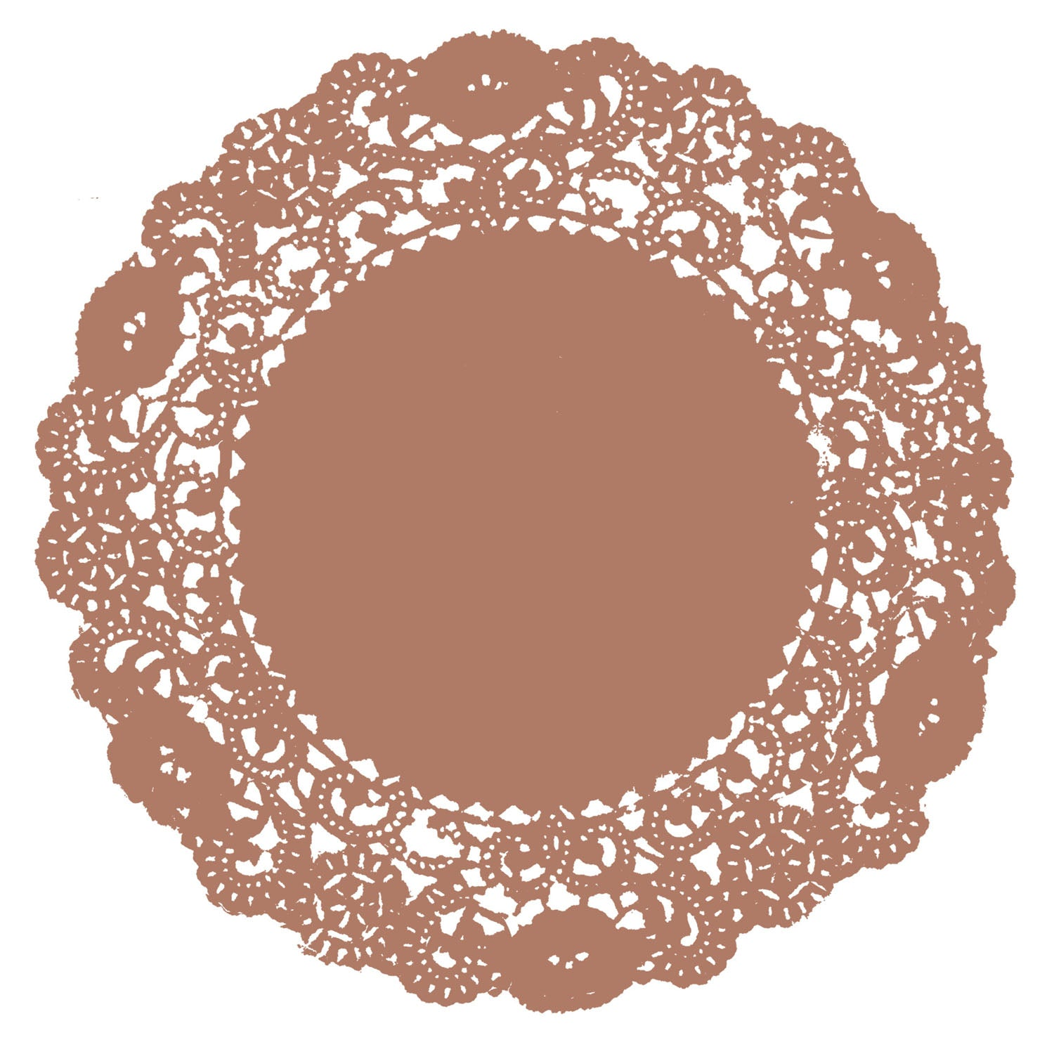 Acorn Brown Doily