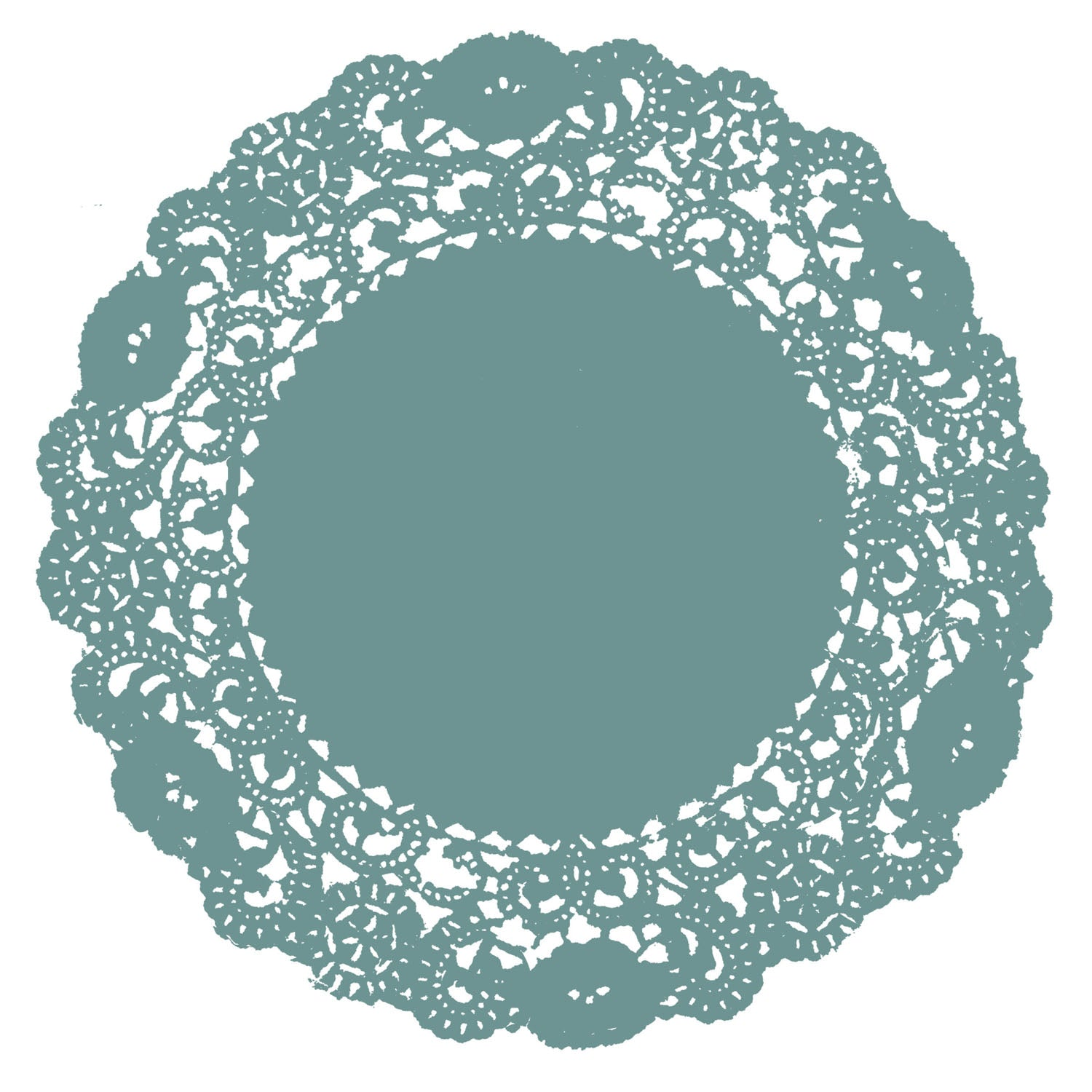 Dusty Teal Doily