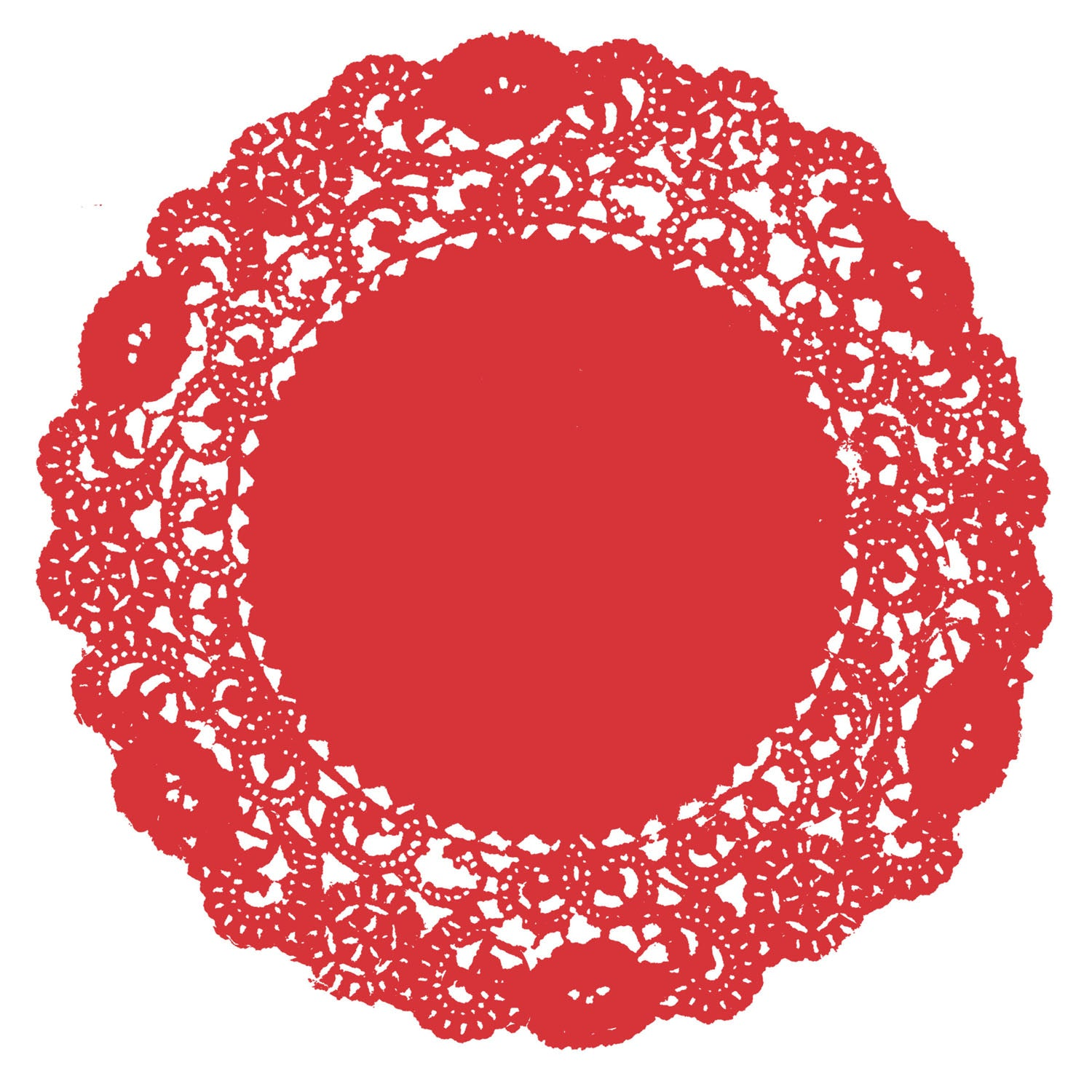 Rouge Red Doily