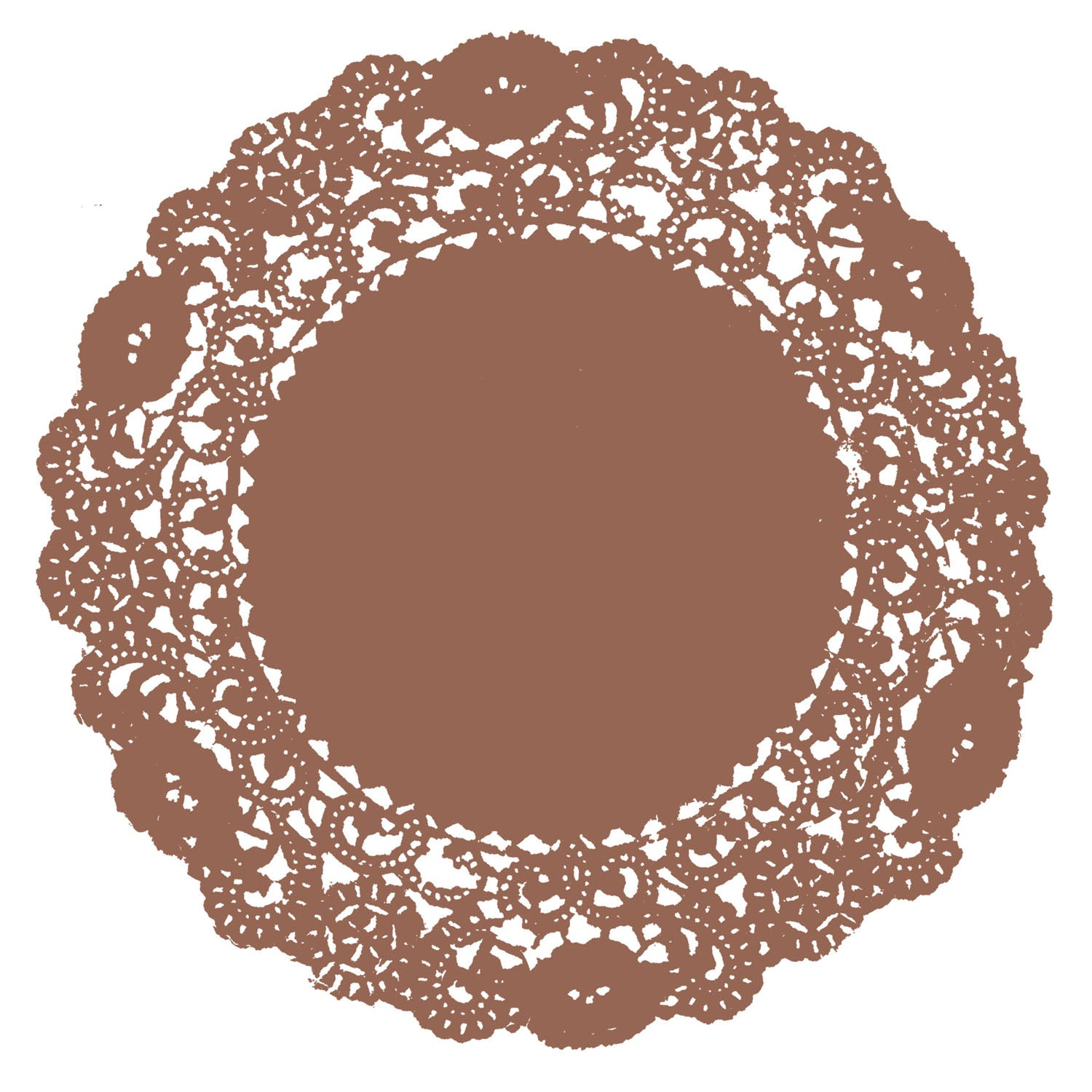 Autumn Brown Doily