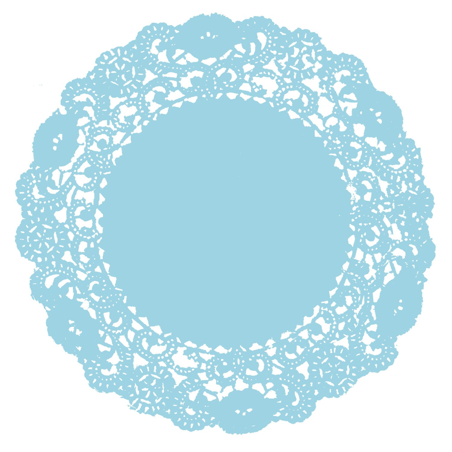 Baby Blue Doily