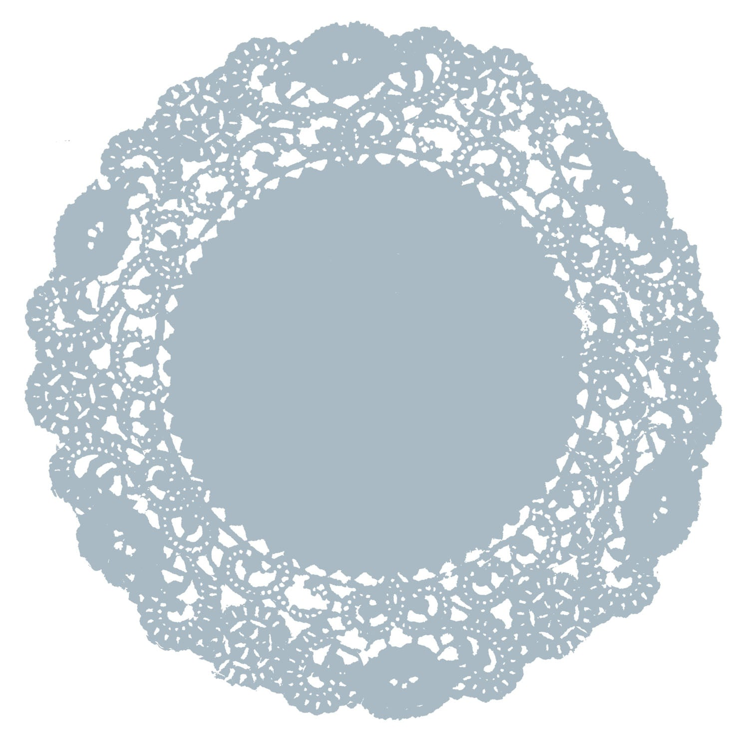 Blue Gray Clouds Doily