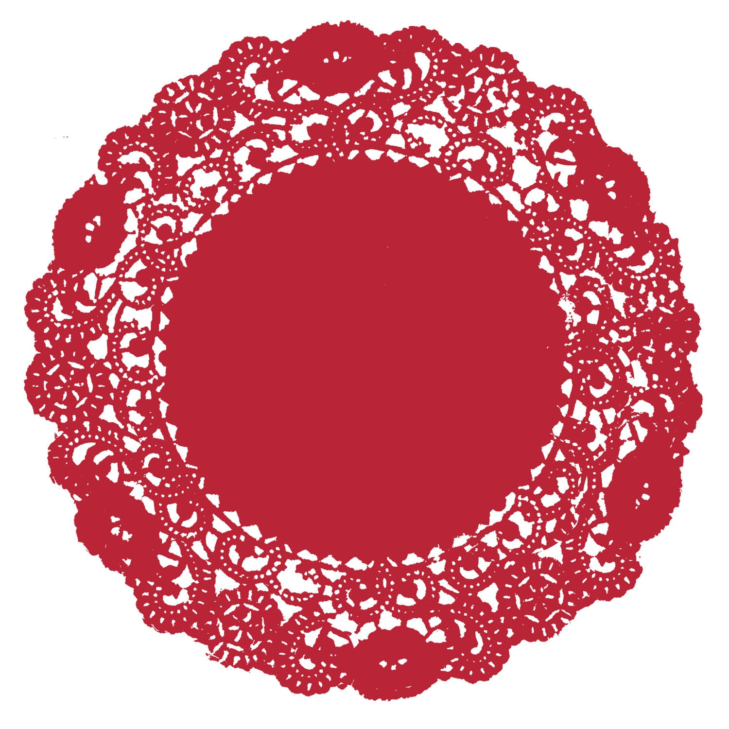 Classic Ruby Red Doily