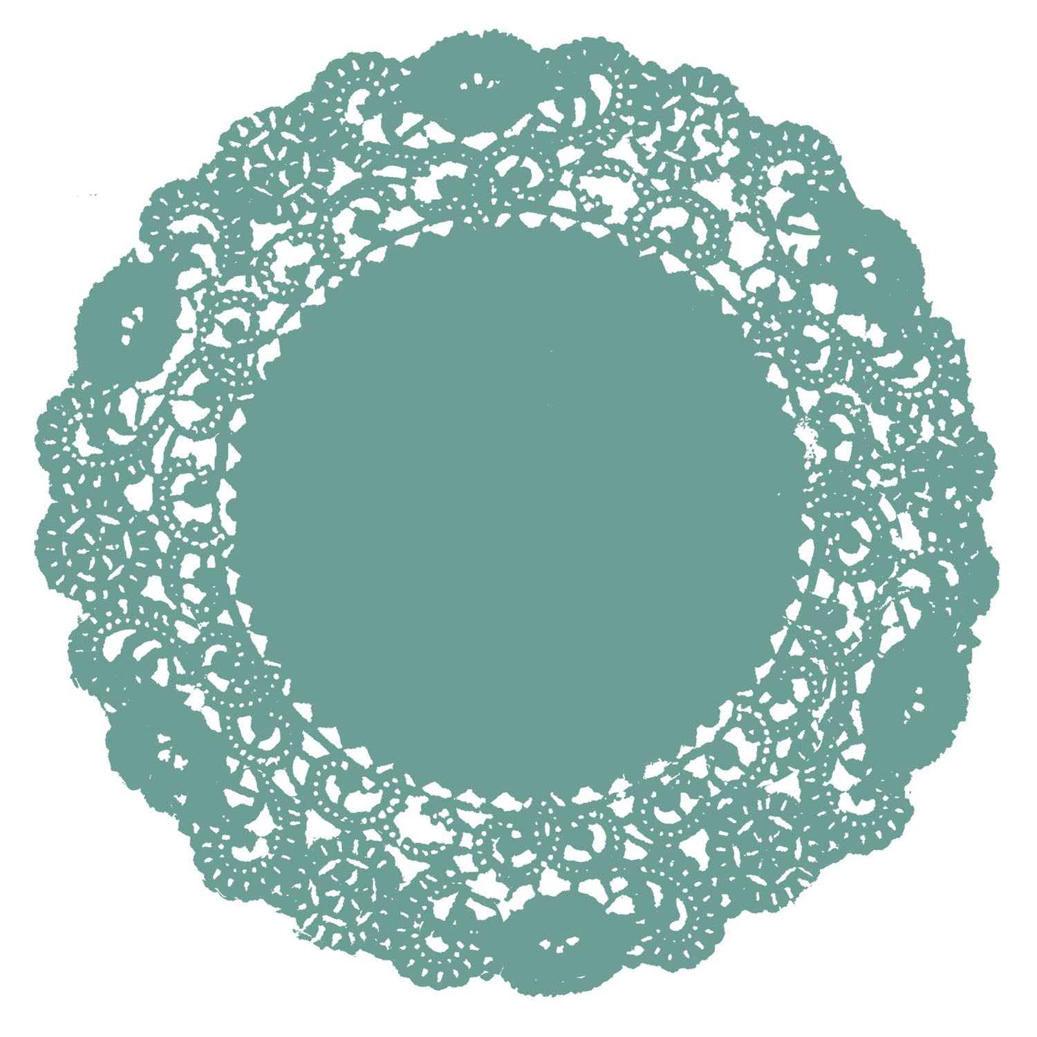 Jewel Green Doily