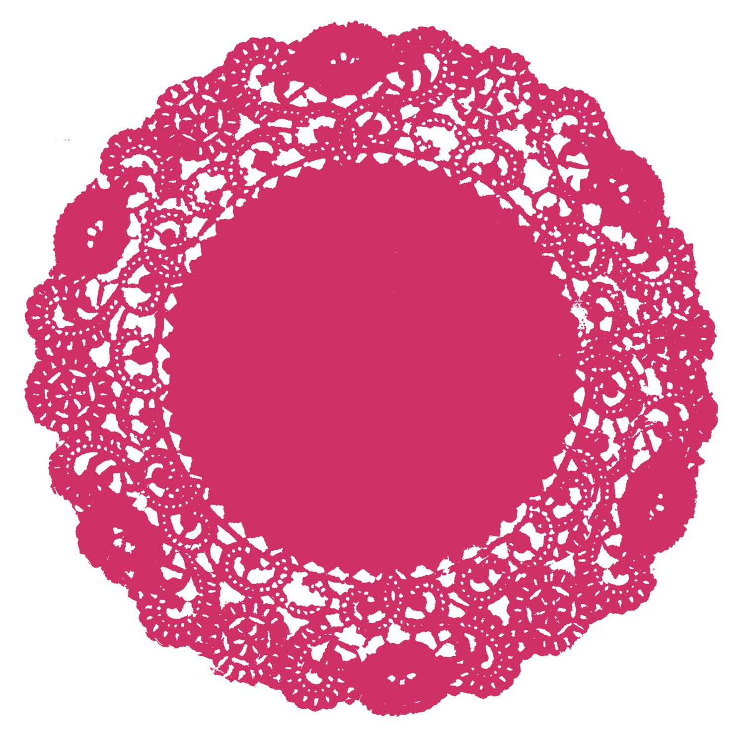 Punch Pink Doily