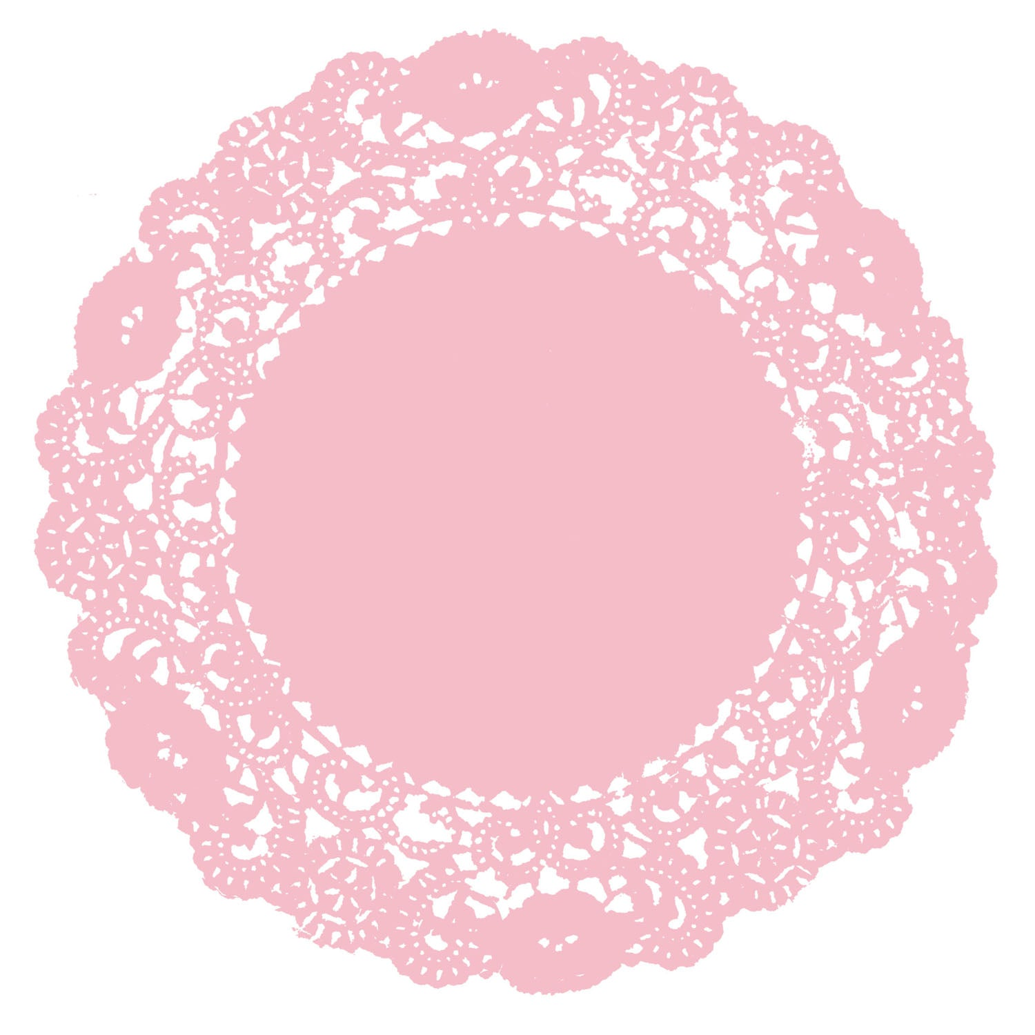 Rose Bud Pink Doily