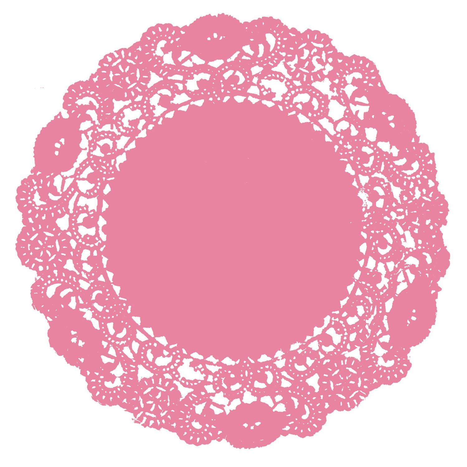 Strawberry Pink Doily