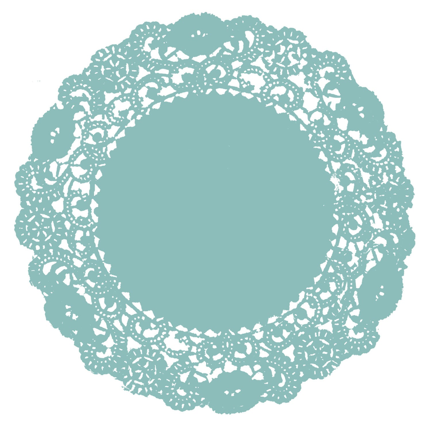 Dusty Aqua Doily