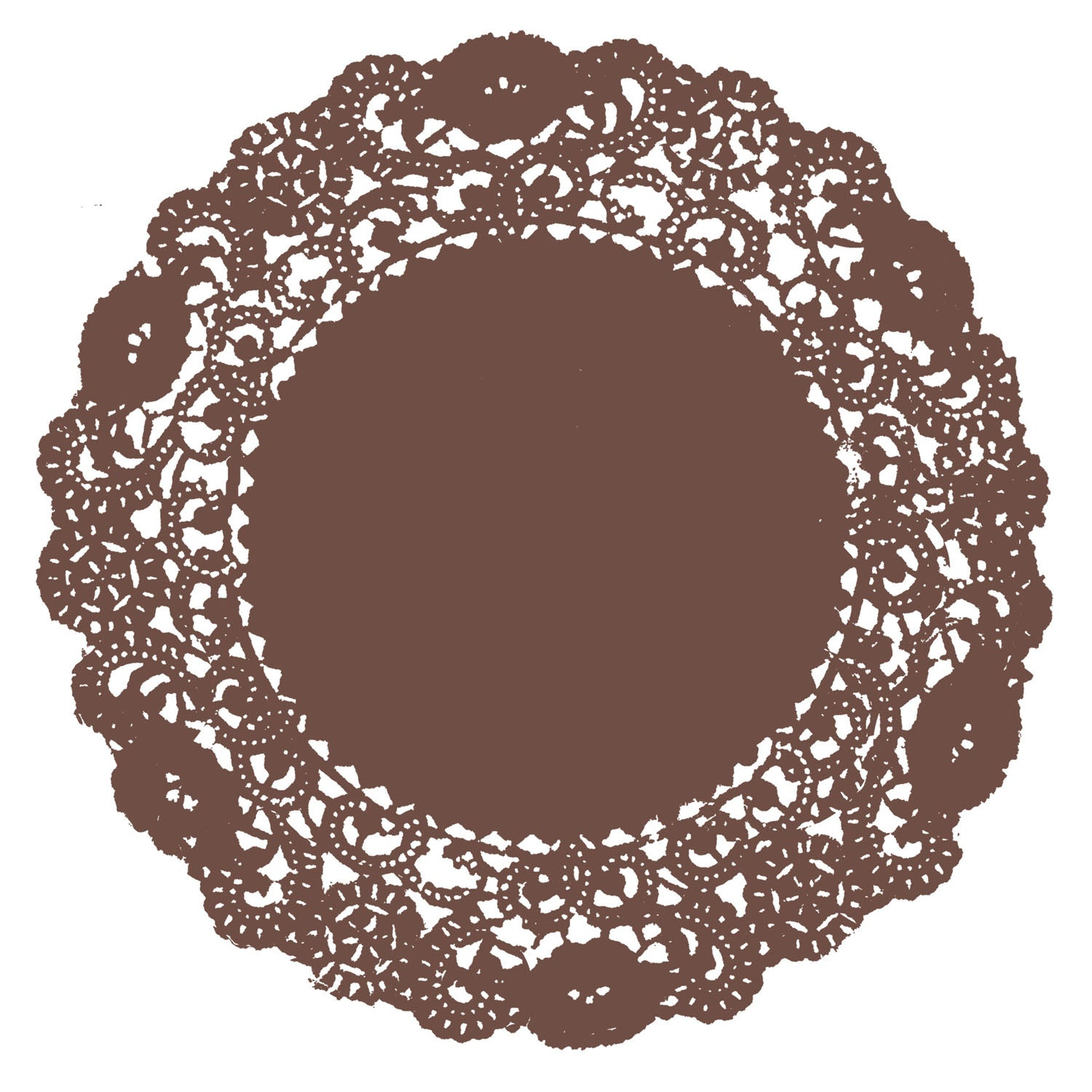 Chocolate Brown Doily