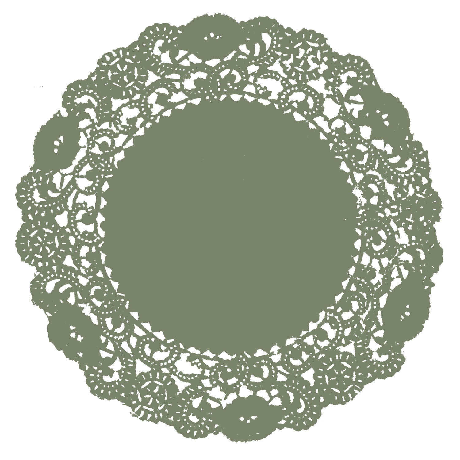 Light Olive Green Doily