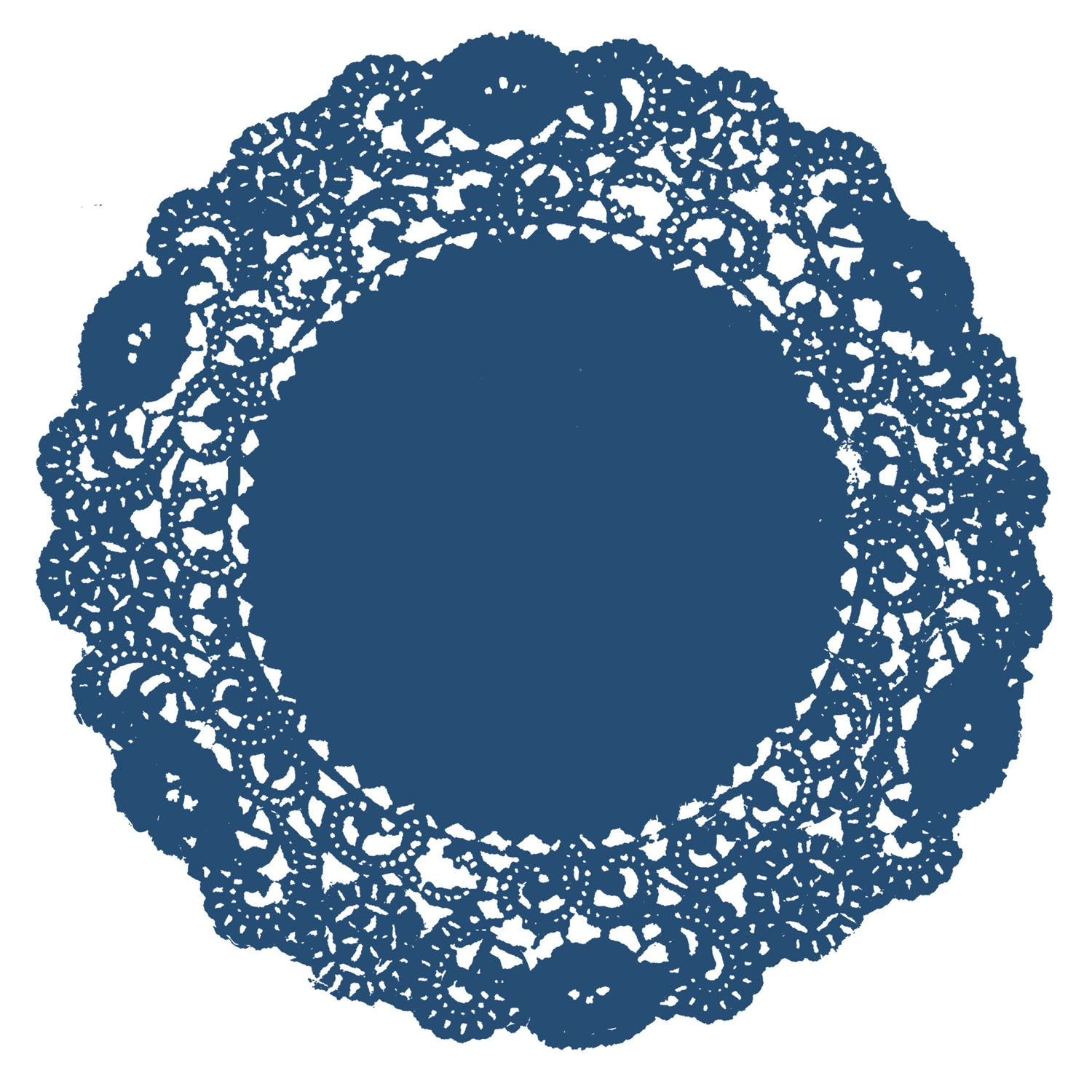 Royal Blue Doily