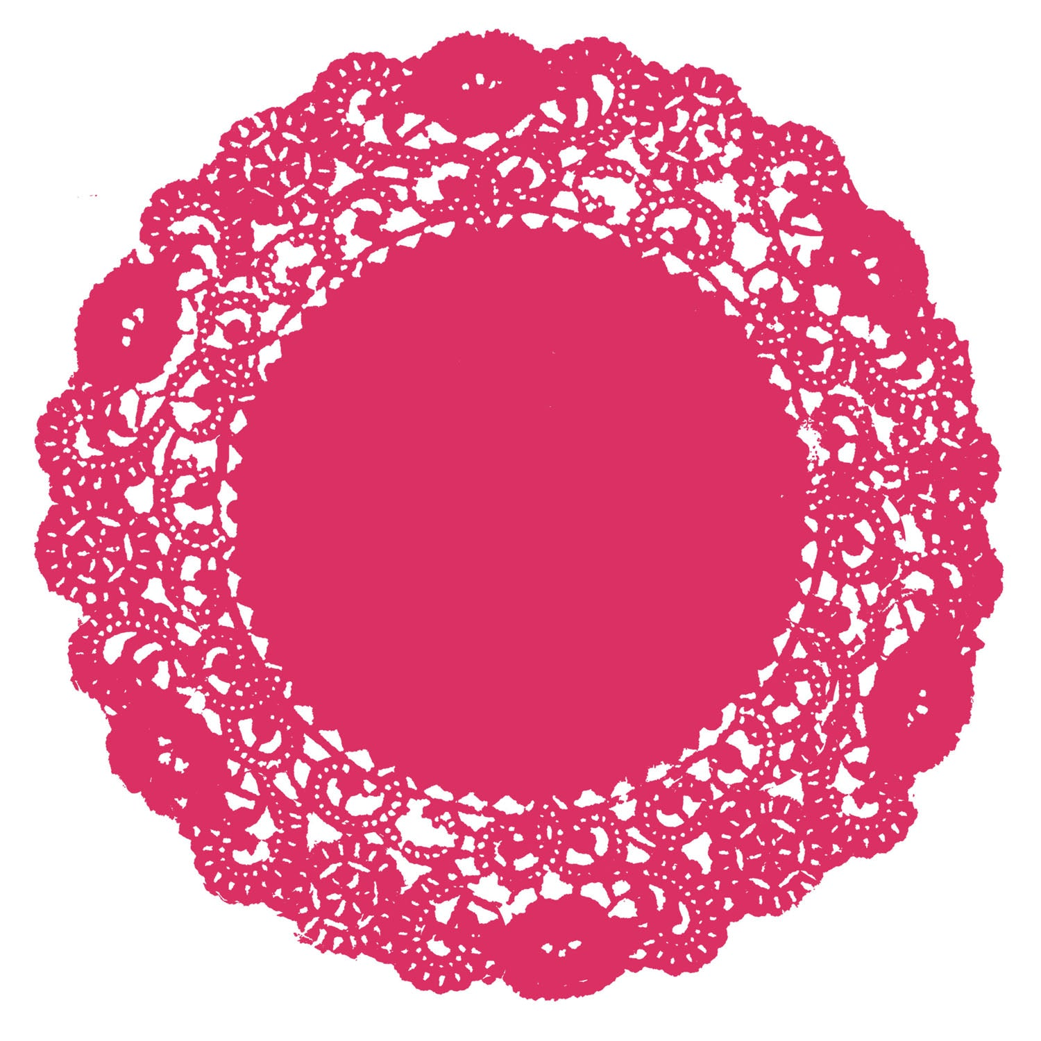 Shocking Pink Doily