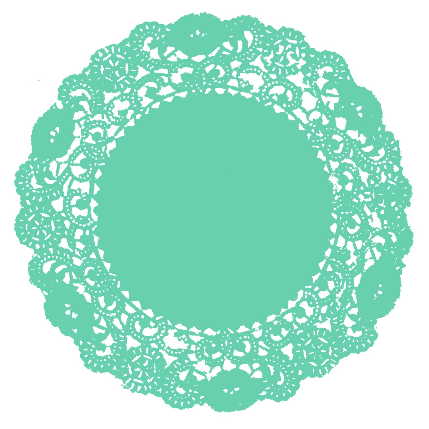 Spa Green Doily