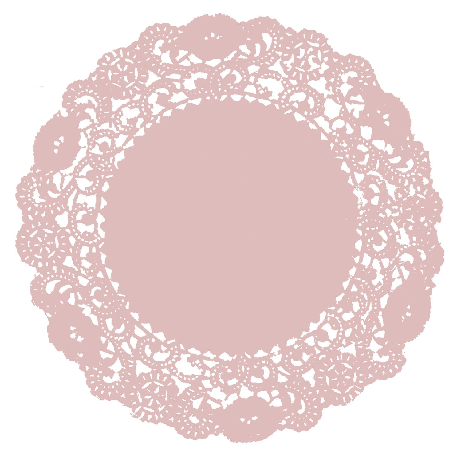 Dusty Pink Doily