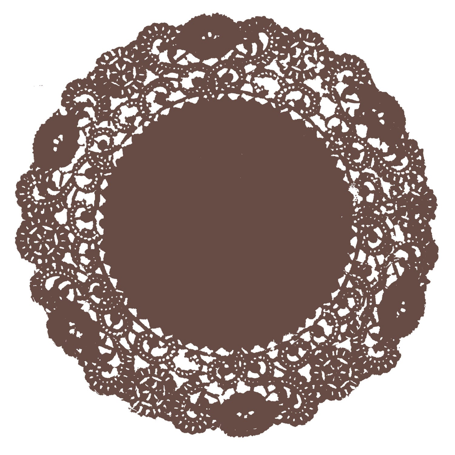 Mink Brown Doily