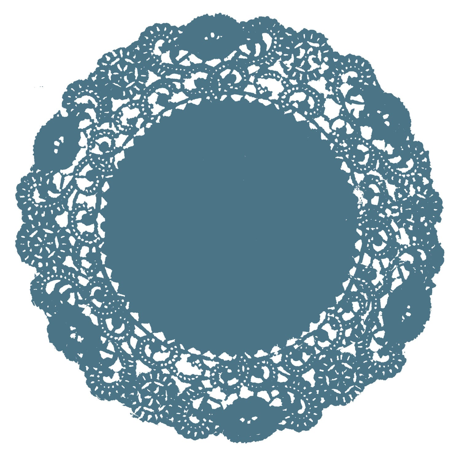 Teal Blue Doily
