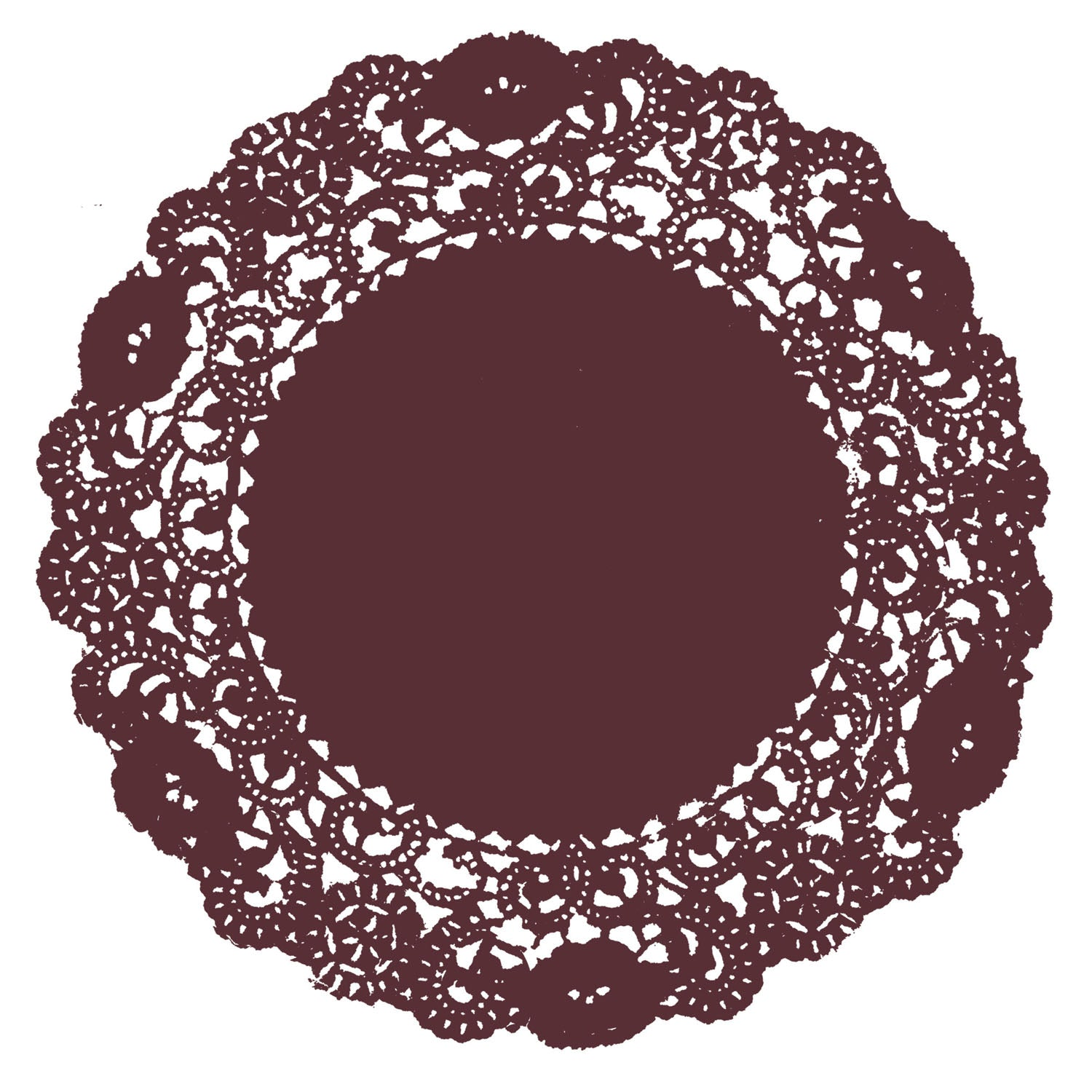 Antique Rosewood Doily