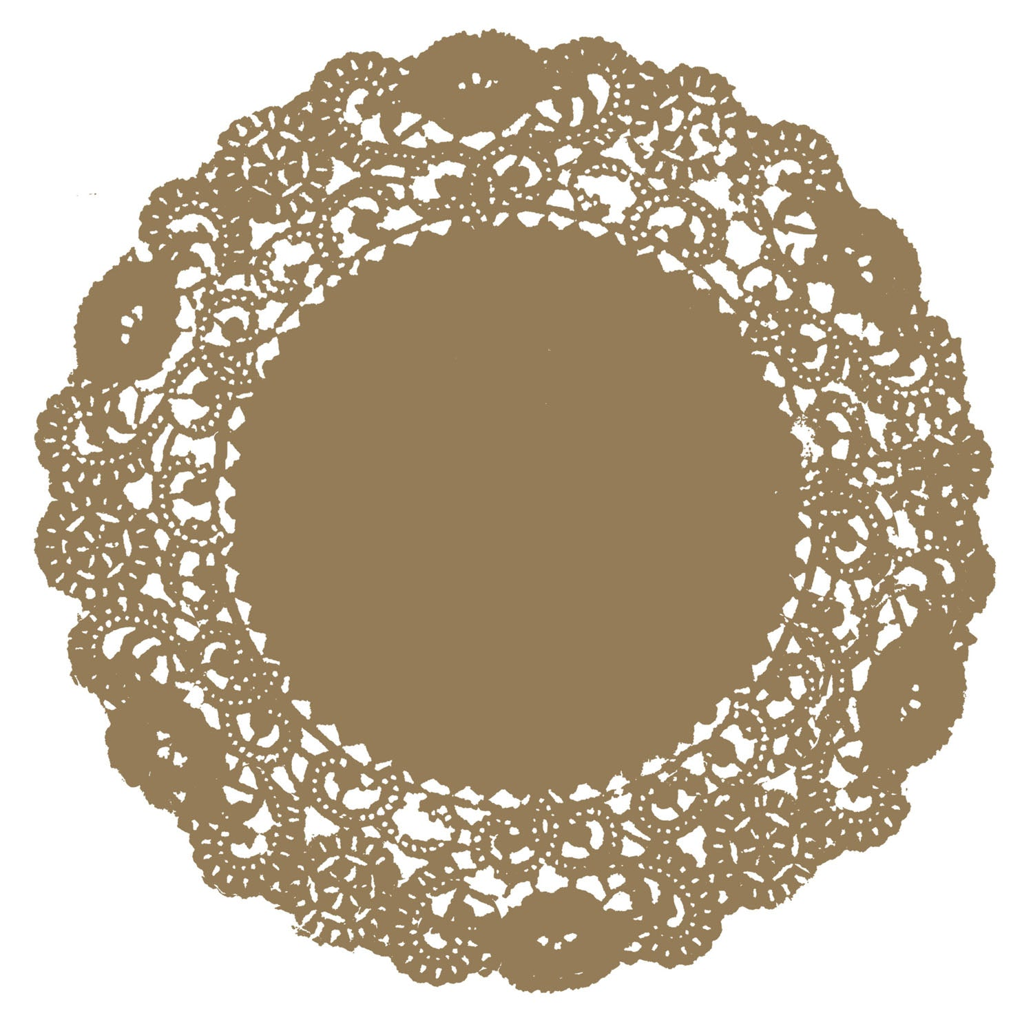Harvest Gold Doily